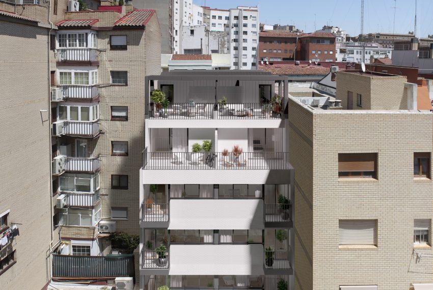 Cervantes 43 fachada interior