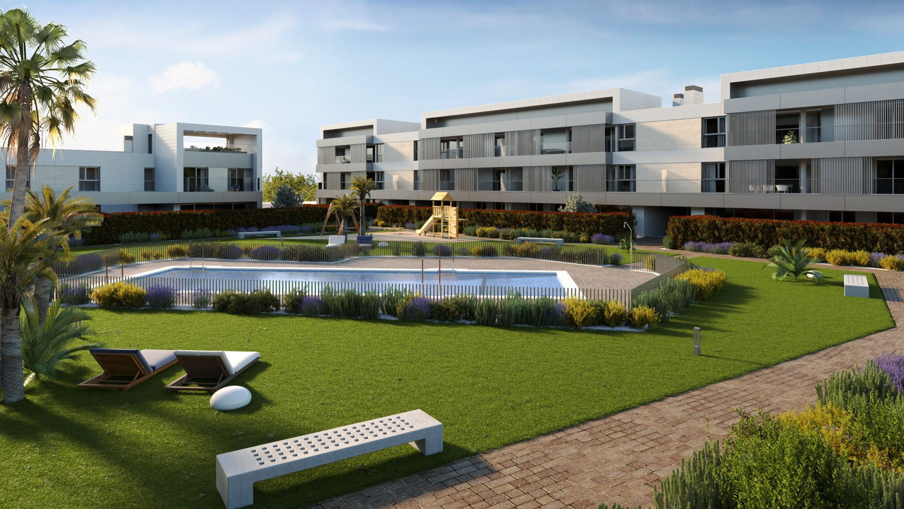 Promoci n velaire residencial obra en construcci n en for Piscina miralbueno